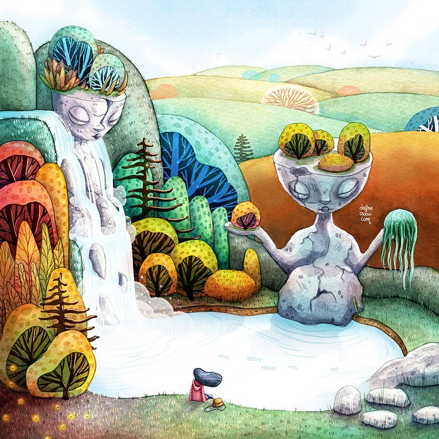 Foresta incantata - Illustrazione Dafne Crocco